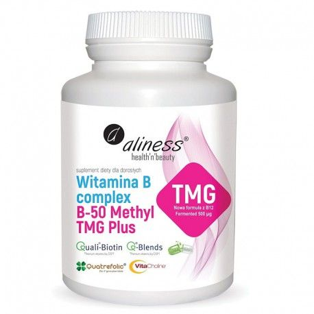 La vitamine B-Complex B-50 Methyl TMG PLUS de 100 asfc.